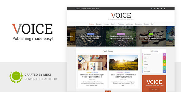 Voice - Clean News/Magazine WordPress Theme - News / Editorial Blog / Magazine