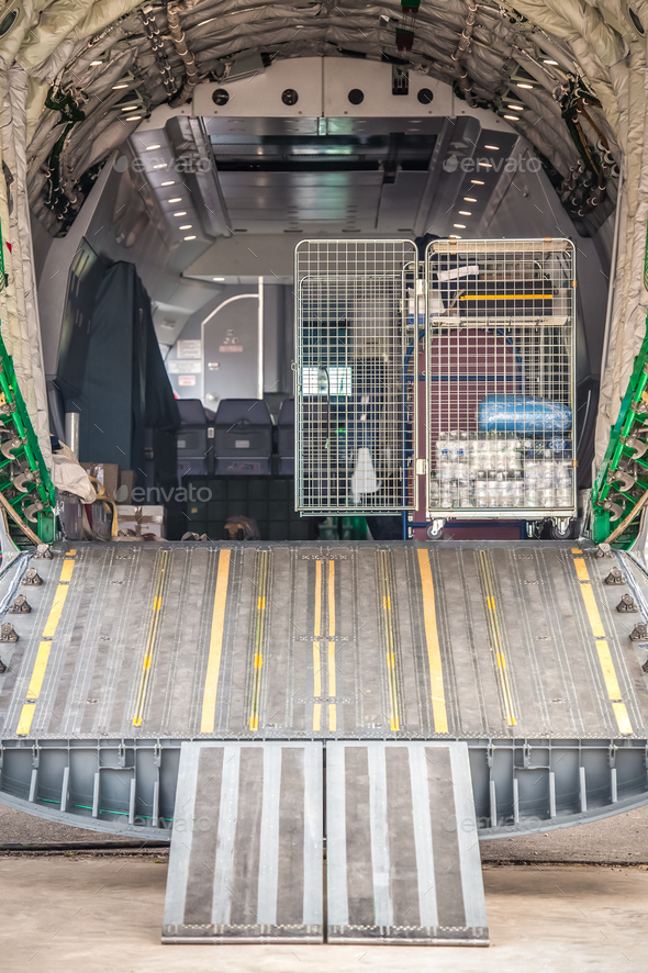 aircraft cargo bay - Stock Photo - Images