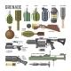 Gun Vector Military Weapon Grenade-Gun Army - GraphicRiver Item for Sale