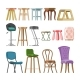 Chair Vector Comfortable Furniture Stool Bar-Chair - GraphicRiver Item for Sale