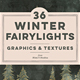 36 Winter Fairy Lights Gold Graphics - GraphicRiver Item for Sale