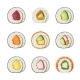 Set Sushi Rolls with Various Ingredients - GraphicRiver Item for Sale