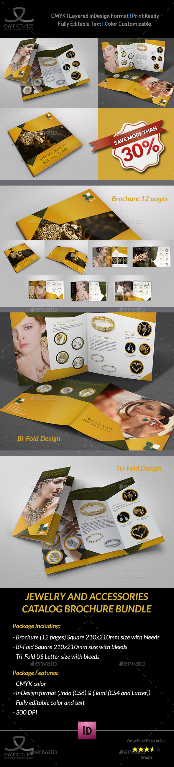 Jewelry and Accessories Catalog Brochure Bundle - Brochures Print Templates