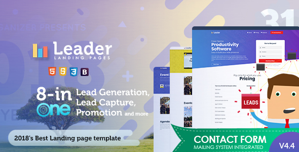 Lead Landing Pages - Marketing Corporate