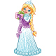 Winter Princess with a Gift - GraphicRiver Item for Sale