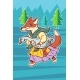 Fox Steals Goose Bird - GraphicRiver Item for Sale