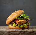 burger with chicken meat and avocado - PhotoDune Item for Sale