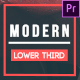 Modern Lower Thirds // Essential Graphics (Mogrt) - VideoHive Item for Sale