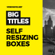 Self-Resizing Big Titles - VideoHive Item for Sale