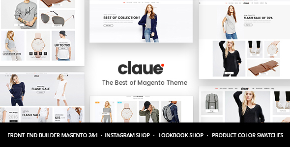 Claue - Clean, Minimal Magento 2 and 1 Theme - Magento eCommerce