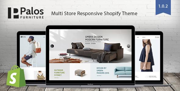 Palos - Multi Store Responsive Shopify Theme - Shopify eCommerce