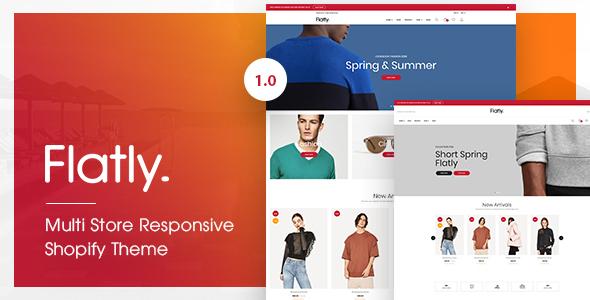 Flatly - Multi Store Responsive Shopify Theme - Shopify eCommerce