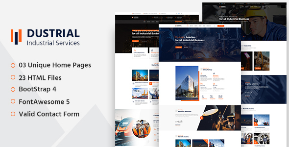 Dustrial - Factory & Industrial HTML Template