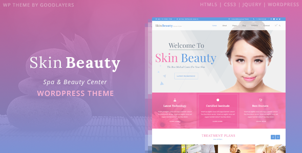 Skin Beauty - Spa WordPress