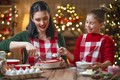 Family cooking Christmas cookies. - PhotoDune Item for Sale