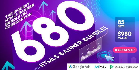 Biggest HTML5 Banner  Bundle in CodeCanyon - 680 Banners - CodeCanyon Item for Sale