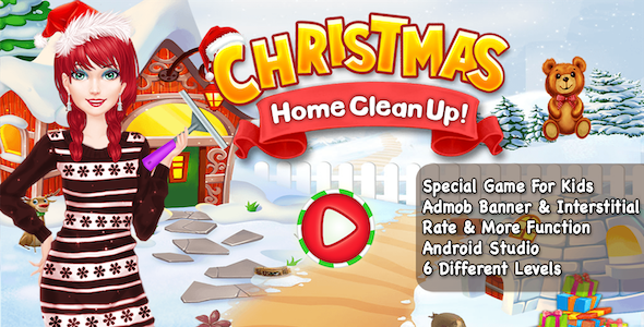 Christmas Home CleanUp + Special Kids Games + Android - CodeCanyon Item for Sale