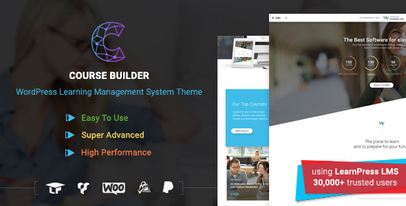 LMS WordPress Theme for Online Courses, Schools & Education | Course Builder LMS - Education WordPress