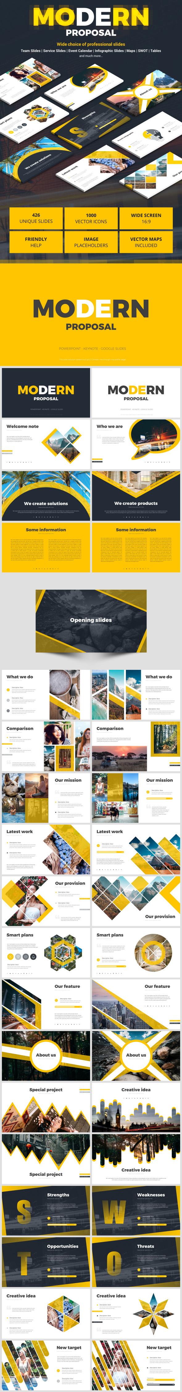 Modern Proposal - Google Slides Presentation Templates