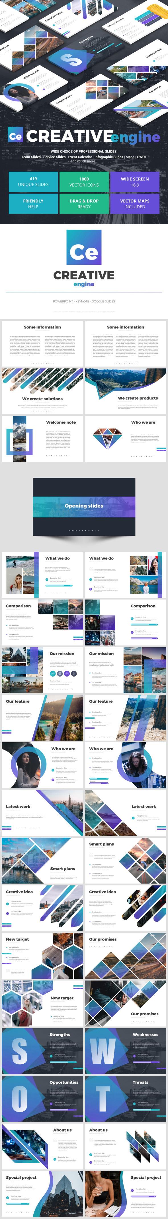 Creative Engine - Google Slides Presentation Templates