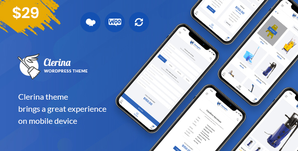 Clerina - Cleaning Services WordPress Theme