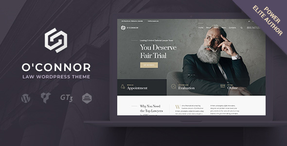 Oconnor – Lawyers Attorneys and Law Firm WordPress Theme - Business Corporate