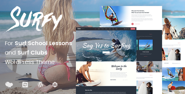 Surfy – WordPress Theme for Surf School Lessons and Clubs - Travel Retail