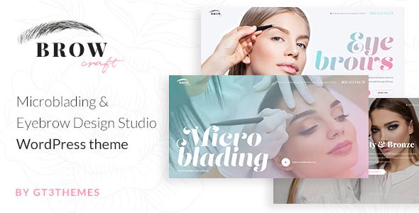Browcraft - Microblading & Eyebrow Beauty Salon WordPress theme - Health & Beauty Retail