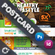 Healthy Food Postcard Templates - GraphicRiver Item for Sale