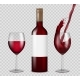Transparent Wine Bottle and Wineglasses Mockup - GraphicRiver Item for Sale