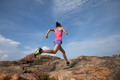 running to rocky mountain top - PhotoDune Item for Sale