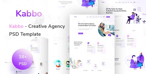 Kabbo - Creative Agency PSD Template - Creative PSD Templates