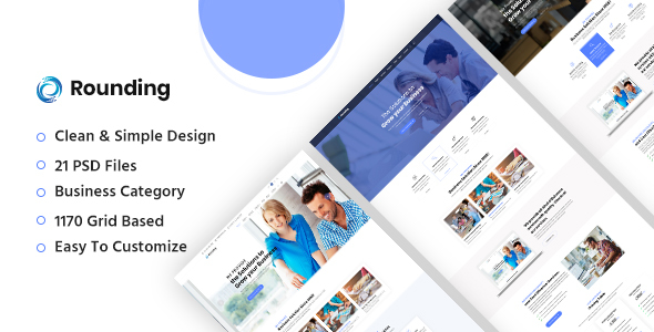 Rounding Business Psd Template By Johanspond Themeforest