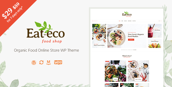Eat Eco - Healthy & Organic Food Shop WooCommerce Theme