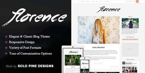 Florence - A Responsive WordPress Blog Theme
