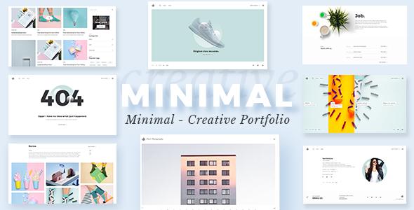 Minimalist Portfolio - Portfolio WordPress - Portfolio Creative