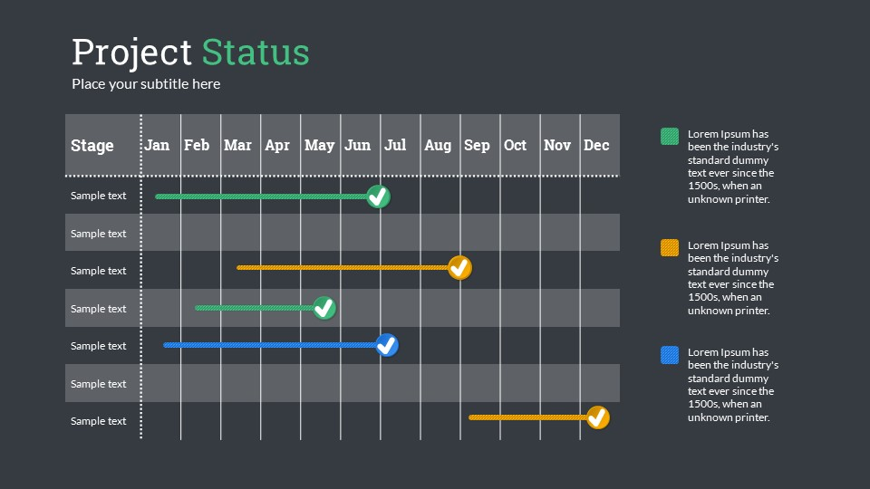 Project Status Point Presentation Template