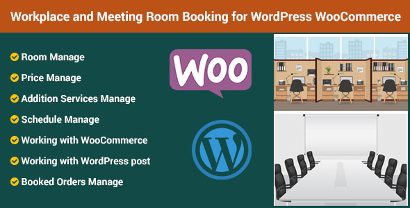 Workplace and Meeting Room Booking for Wordpress WooCommerce - CodeCanyon Item for Sale