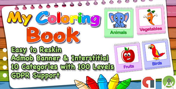 Top Kids Games My Coloring Book + Admob + Education + Ready For ...