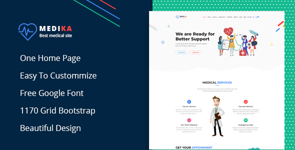 Medika - Creative Multipurpose PSD Template