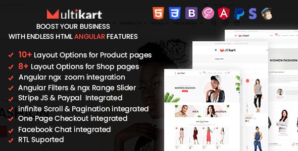 Multikart - Responsive Angular eCommerce Template