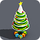 Low Poly Christmas Tree And Snowmen Gift - 3DOcean Item for Sale