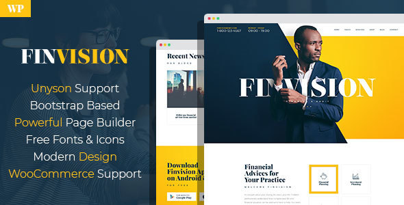 Finvision - Financial Consulting WordPress Theme