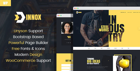 Innox - Industrial WordPress Theme - Business Corporate