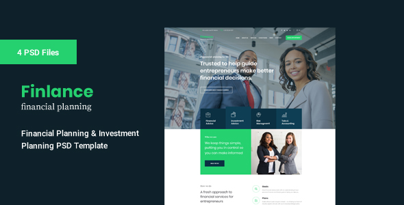 Finlance PSD Template For Financial Planning By Pixelcurve