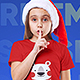 Christmas Kids Girl T-Shirt Mockups. Vol 2 - GraphicRiver Item for Sale
