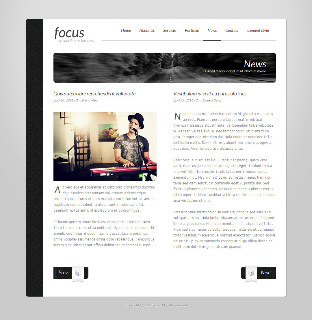 Focus - Simple One Page Template 2 by Indonez | ThemeForest