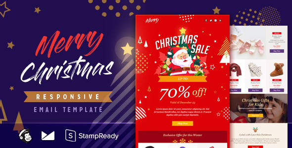 Merry - Responsive Email + StampReady Builder