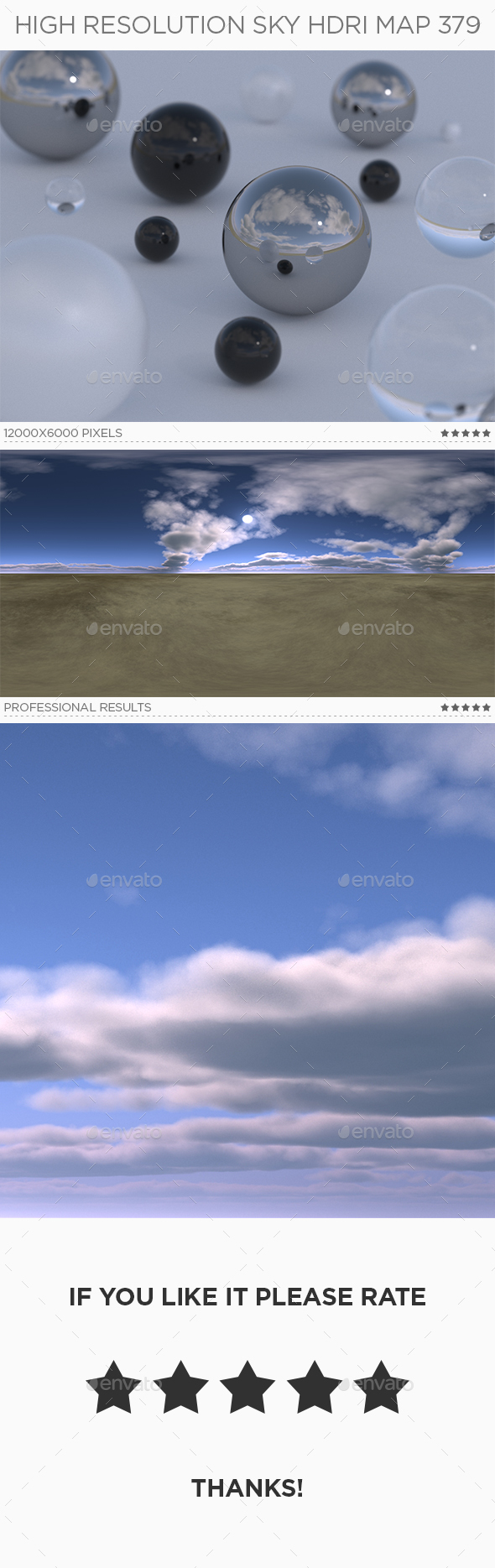 High Resolution Sky HDRi Map 379 - 3DOcean Item for Sale