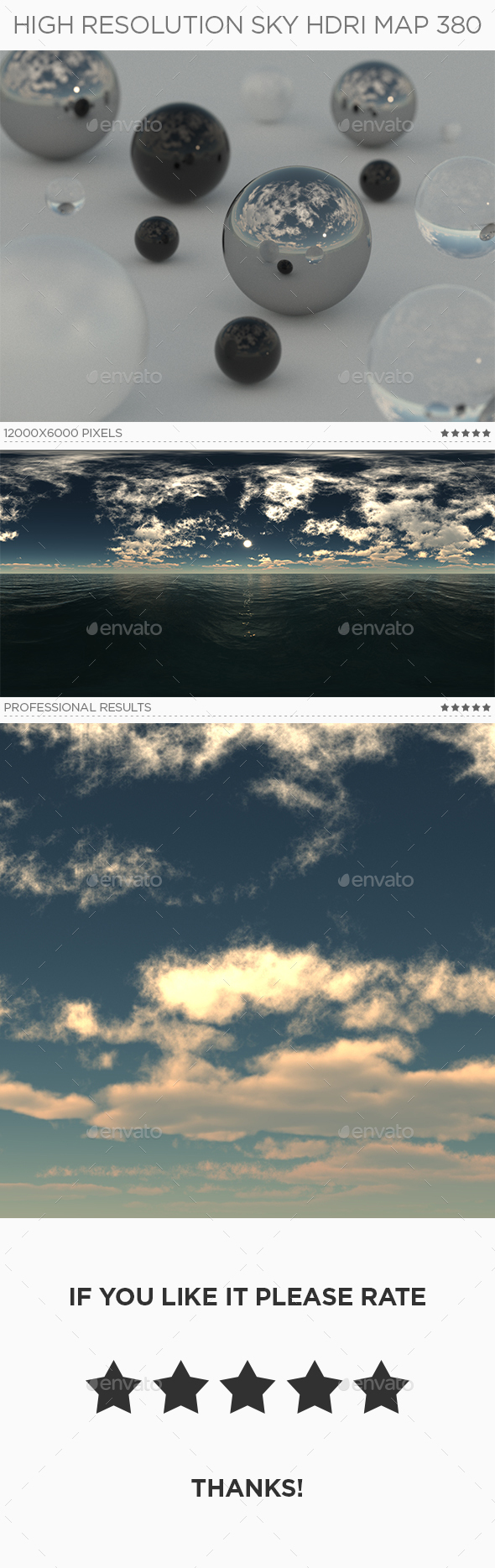 High Resolution Sky HDRi Map 380 - 3DOcean Item for Sale
